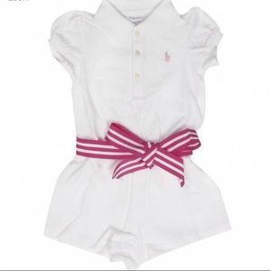 BNWT Ralph Lauren Baby Girls Polo Romper BNWT